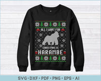 All I want for Christmas Is HARAMBE SVG, PNG Printable Cutting Files For Instant Download