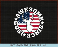 Awesome Since 1989 SVG, PNG Printable Cutting Files For Download Instantly