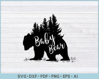 Baby Bear SVG, DXF, PNG Printable Cutting file