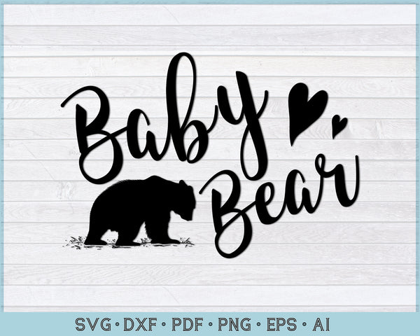 Baby Bear SVG, PNG Printable Cutting files