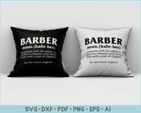 Barber Definition SVG, PNG Printable Cutting files