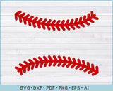 Baseball Stitches SVG, PNG Printable Cutting files