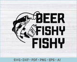 Beer Fishy Fishy SVG, PNG Printable Cutting Files