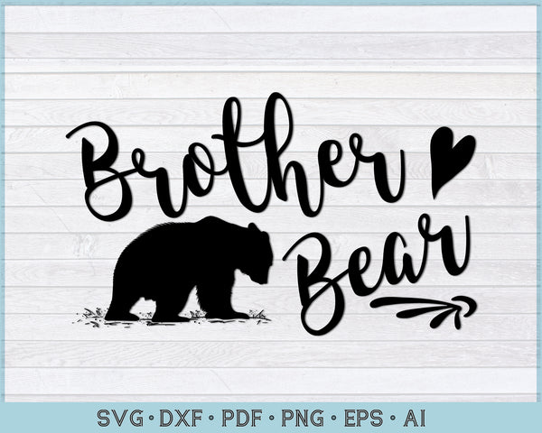 Brother Bear SVG, PNG Printable Cutting files