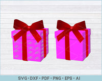 Christmas Gift Box SVG, PNG Printable Cutting Files