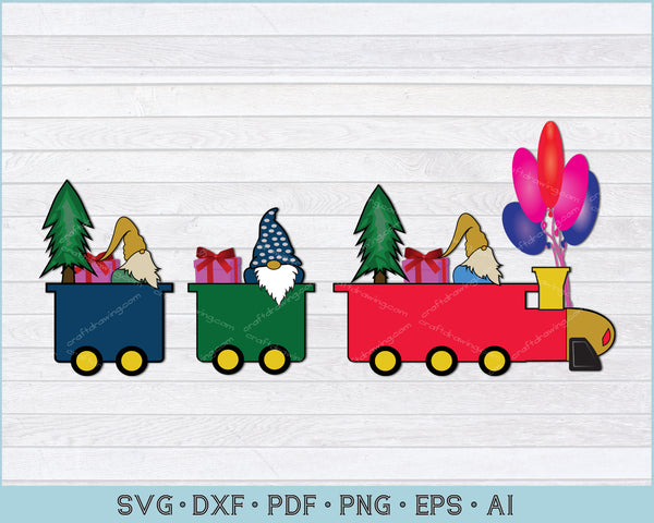 Christmas Train With Santa, Tree SVG, PNG Printable Cutting Files For Instant Download