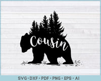 Cousin Bear SVG, PNG Printable Cutting file