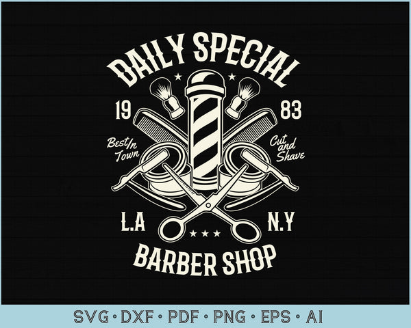 Daily Special Barbershop SVG, PNG Printable Cutting files