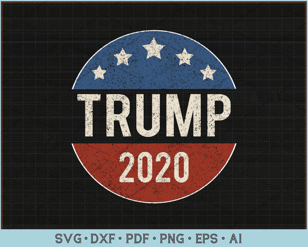 Donald Trump 2020 American Flag SVG, PNG Cutting Printable Files