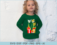 FunQi Laser Cat-Zillas Ugly Christmas Sweater SVG, PNG Printable Cutting FIles