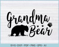 Grandma Bear SVG, PNG Printable Cutting files