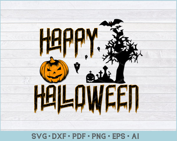 Happy Halloween Dear Enjoy, Funny Halloween SVG, PNG Print Ready Cutting Files