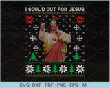I Soul'd Out For Jesus Ugly Christmas Sweater Design SVG, PNG Print Ready Cutting Files