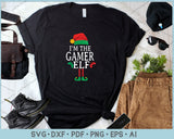 I'm The Gamer Elf SVG, PNG Printable Cutting Files For Instant Download