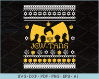 Jew Tang Ugly Christmas Sweater Design SVG, PNG Printable Cutting Files