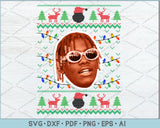 Lil Uzi Dreads Ugly Christmas Sweater Design SVG, PNG Printable Cutting Files