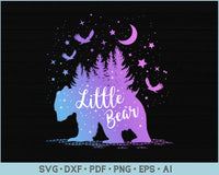 Little Bear Outdoor Adventure SVG, PNG Printable Cutting files for Instant Download