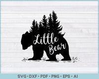 Little Bear SVG, DXF, PNG Printable Cutting file