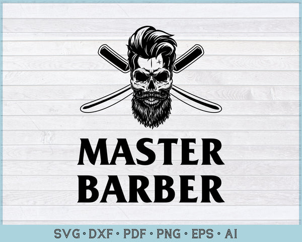 Master Barber SVG, PNG Printable Cutting file