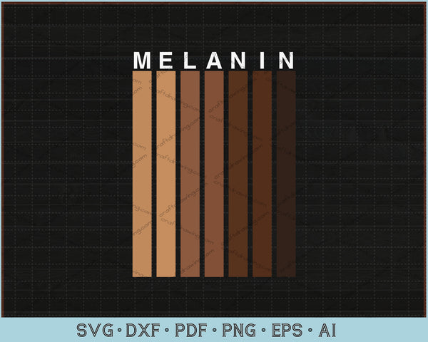 Melanin Shades SVG, PNG Printable Cutting Files