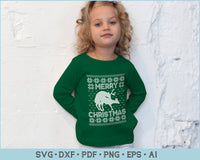 Merry Christmas Bitch Ugly Christmas Sweater Design SVG, PNG Printable Cutting Files