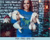 Merry Christmas with Dragon Ugly Christmas Sweater Design PNG, EPS Print Ready Files