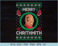 Merry Chrithmith Ugly Christmas Sweater Design SVG, PNG Printable Cutting Files