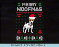 Merry Woofmas Ugly Christmas Sweater Design SVG, PNG Printable Cutting Files