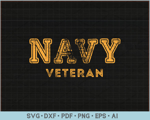 Navy Veteran SVG, PNG Printable Cutting Files For Instant Download