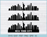 New York City Skyline svg, png, printable cutting files