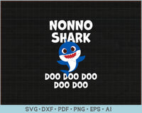 Nonno Shark Doo Doo Doo SVG, PNG Print Ready Cutting Files For Instant Download