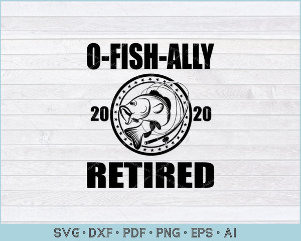 O Fish Ally Retired 2020 SVG, PNG Printable Cutting Files