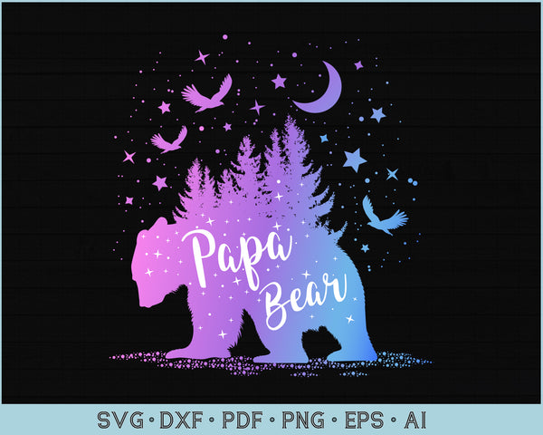Papa Bear Outdoor Adventure SVG, PNG Printable Cutting files for Instant Download
