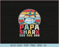 Papa Shark Doo Doo Doo SVG, PNG Printable Cutting Files