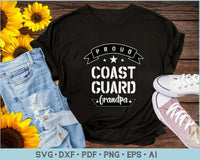 Proud Coast Guard Grandpa SVG, PNG Printable Cutting files