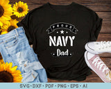 Proud Navy Dad SVG, PNG Printable Cutting files