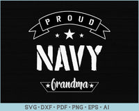 Proud Navy Grandma SVG, PNG Printable Cutting files