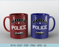 Proud Police Grandpa SVG, PNG Printable Cutting files