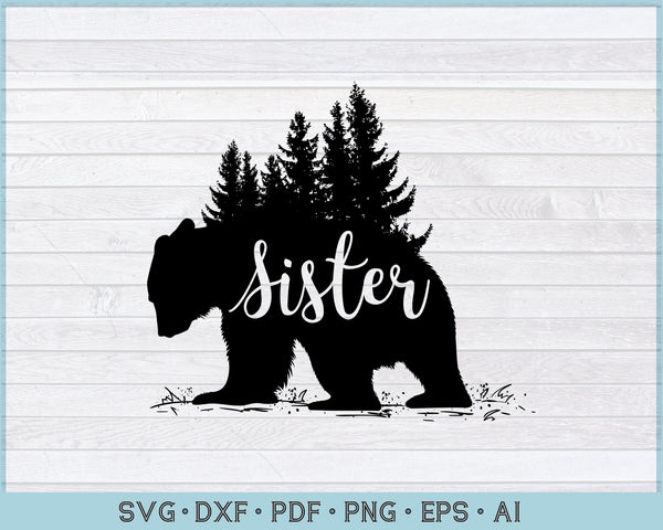 Sister Bear SVG, PNG Printable Cutting file