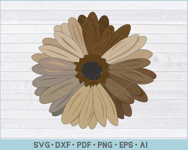 Sunflower SVG, PNG Printable Cutting Files For Instant Download
