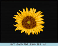 Sunflower SVG, PNG Printable Cutting file