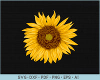 Sunflower SVG, PNG Printable Cutting files