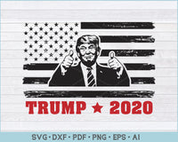 Trump 2020 Election Usa American Distressed Flag 4th July Svg Files Craftdrawings