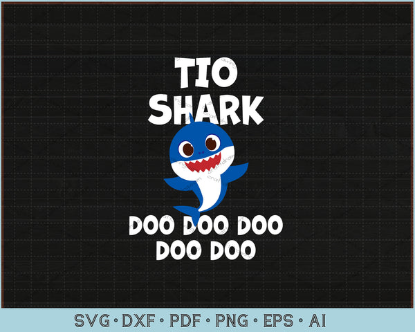 Tio Shark Doo Doo Doo SVG, PNG Print Ready Cutting Files For Instant Download