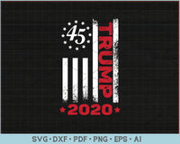 Trump 2020 USA Distressed Flag SVG, PNG Printable Cutting Files