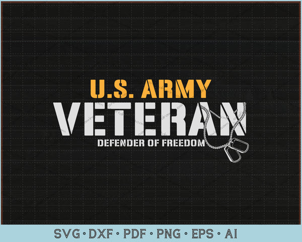 US Army Veteran Defender Of Freedom SVG, PNG Printable Cutting files