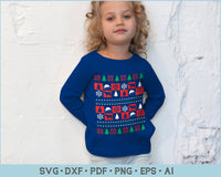Christmas Sweater Design SVG, PNG Printable Cutting Files