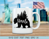 Uncle Bear SVG, PNG Printable Cutting file