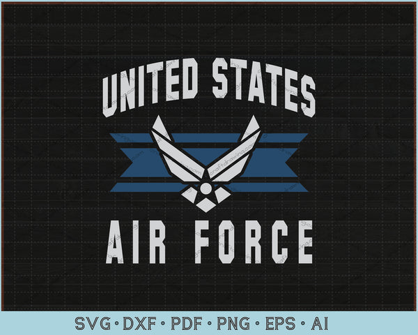United States Air Force SVG, PNG Printable Cutting Files
