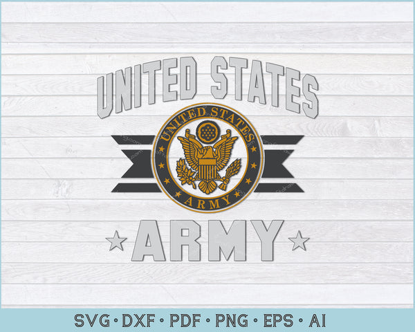 United States Army SVG, PNG Printable Cutting Files